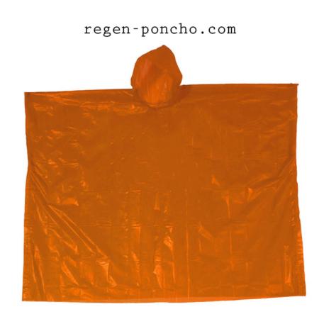 Notfallponcho-orange